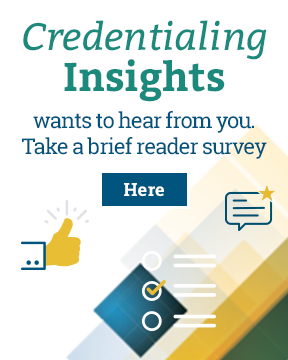 Credentialing Insights Banner Ad - Survey
